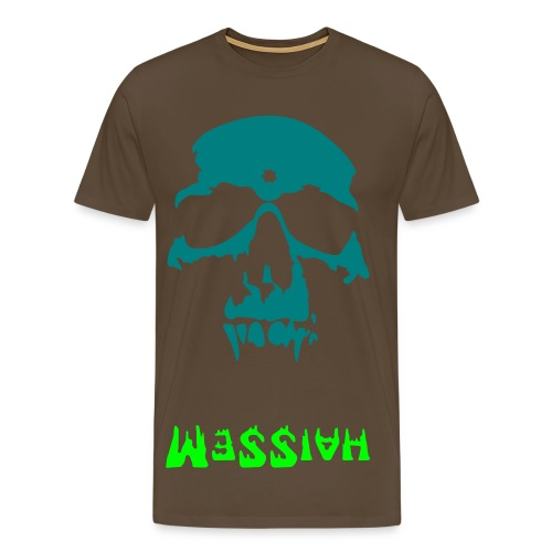 Skull Backwards... - Men's Premium T-Shirt