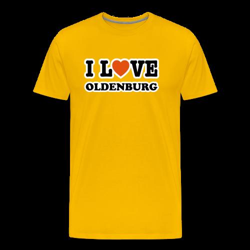 t-shirt i love oldenburg | standard herren t-shirt für oldenburg liebhaber - Männer Premium T-Shirt