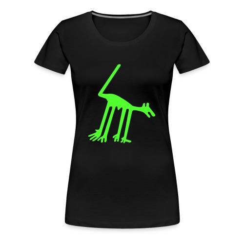Nazca Hund Neongrün Girlie-Shirt - Frauen Premium T-Shirt
