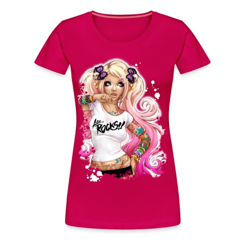 AsuROCKS GIRL Classic Rubin - Frauen Premium T-Shirt