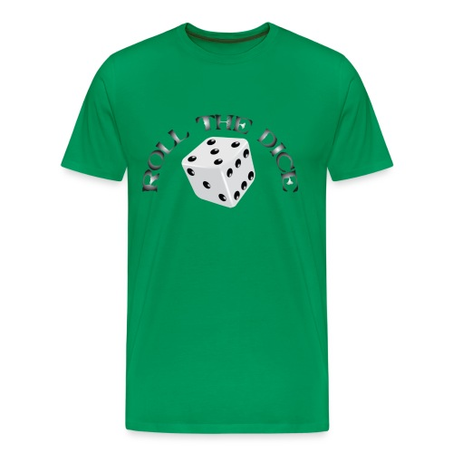 Roll The Dice - Herre premium T-shirt
