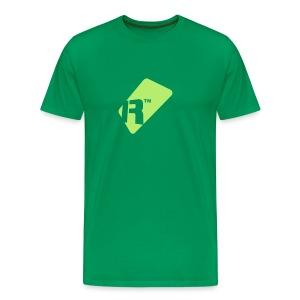 Men's T-Shirt - Light Green Renoise Tag - Men's Premium T-Shirt