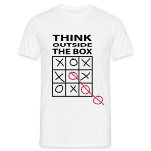 Think outside the box - Männer T-Shirt
