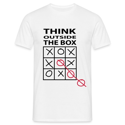 Think outside the box - Miesten t-paita