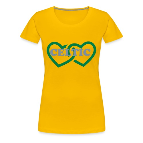 Double Heart Celtic  - Women's Premium T-Shirt