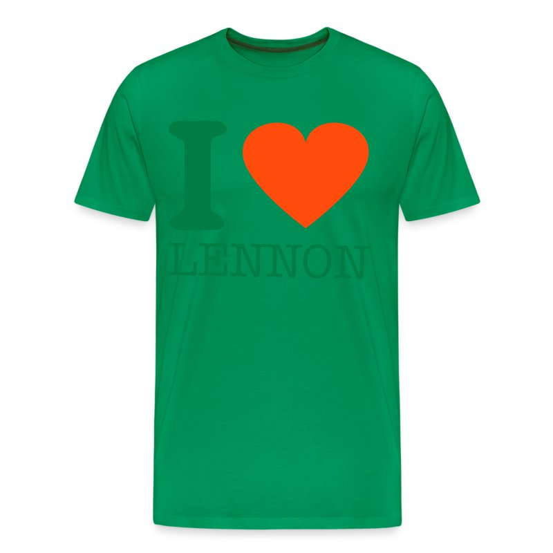 i-LUv-LENNY-GRN - Men's Premium T-Shirt