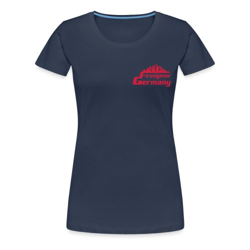 T-Shirt Frauen Firefighter-Germany blau - Frauen Premium T-Shirt
