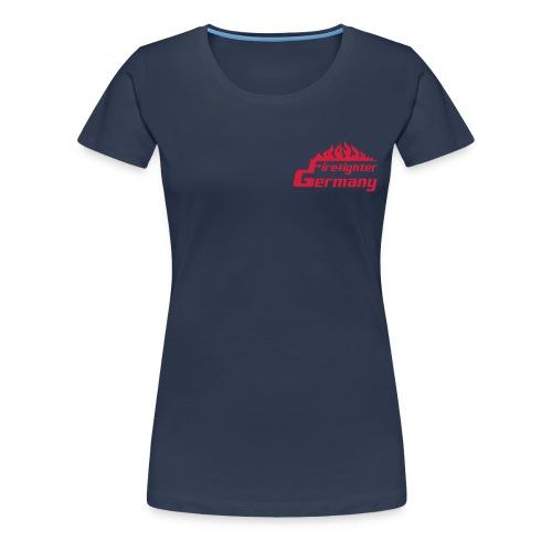 T-Shirt Frauen Firefighter-Germany blau - Frauen Premium T-Shirt