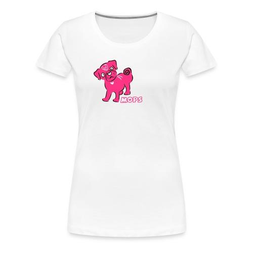 Mops pink - Frauen Premium T-Shirt