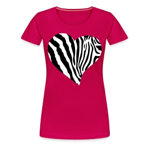 ZEBRA HEART - Women's Premium T-Shirt