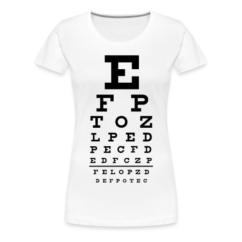 eye test tee - Women's Premium T-Shirt