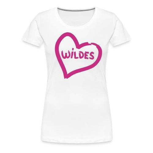 Damen Shirt Herz Liebe  Wild rosa - Frauen Premium T-Shirt