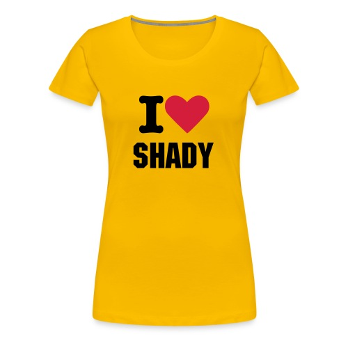 I Love Shady female shirt - Vrouwen Premium T-shirt