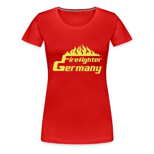 T-Shirt Frauen Firefighter-Germany - Frauen Premium T-Shirt