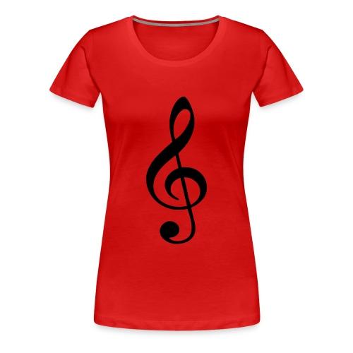 Notenshirt für Girls - Frauen Premium T-Shirt