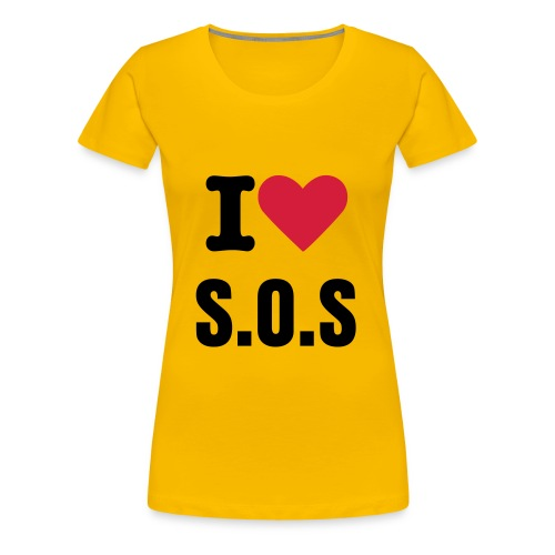 I love S.O.S Girlie Shirt - Frauen Premium T-Shirt