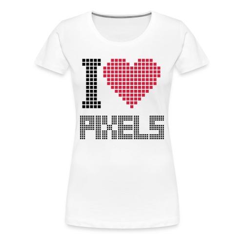 i love pixels - Premium T-skjorte for kvinner