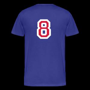 Rückennummer 8 T-Shirt (Weiß/Rot) - Männer Premium T-Shirt