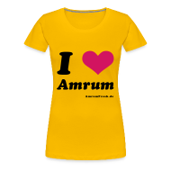 T-Shirts ~ Frauen Premium T-Shirt ~ I Love Amrum