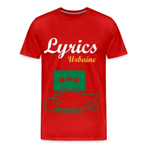 T-shirt Lyrics-Urbaine (Music) en Rouge Burgundy HOMME - T-shirt Premium Homme