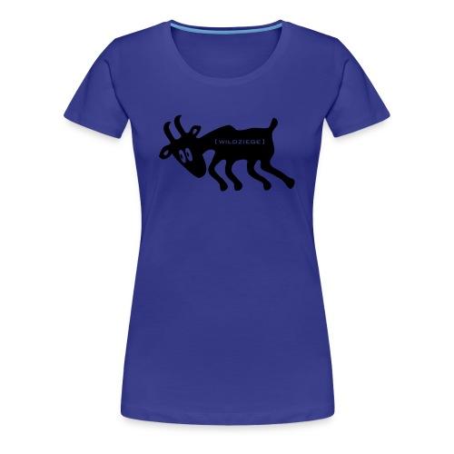 Damen Shirt Wildziege schwarz Tiershirt Shirt Tiermotiv - Frauen Premium T-Shirt