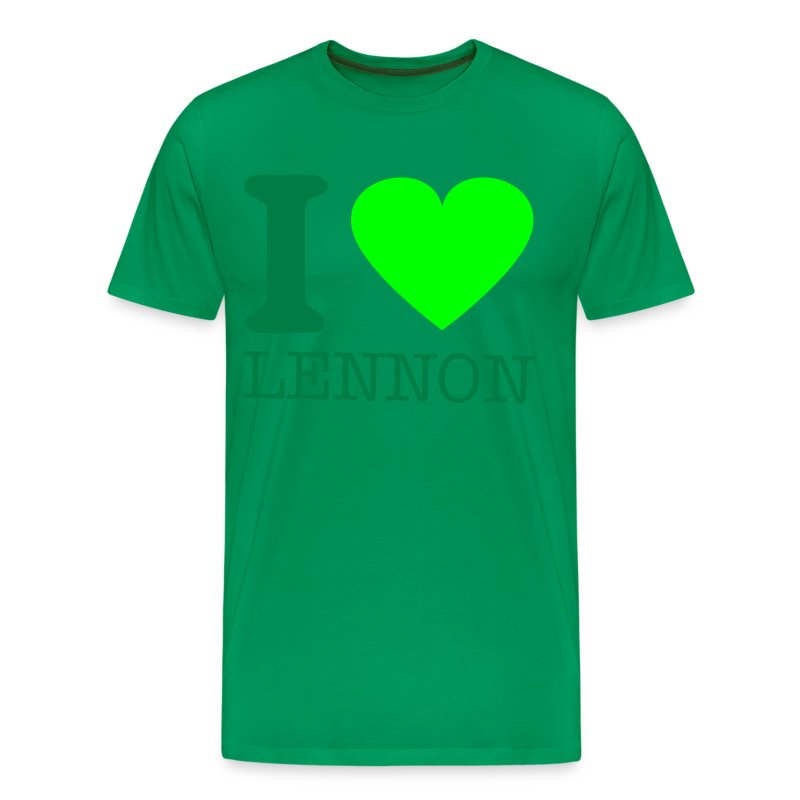 i-LUv-LENNY-GRN2 - Men's Premium T-Shirt