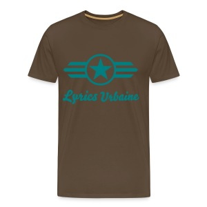 T-shirt Lyrics-Urbaine (star with wings) en Marron Bistre HOMME - T-shirt Premium Homme