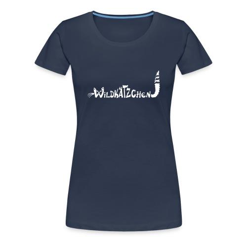 Frauen Shirt Katze Wildkätzchen Katze weiss Tiershirt Shirt Tiermotiv - Frauen Premium T-Shirt
