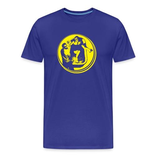 Funny T-shirt Bathtub pee pee - Mannen Premium T-shirt
