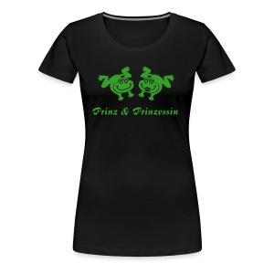 Damen Shirt Übergröße Frosch Prinz & Prinzessin grün Tiershirt Shirt Tiermotiv - Frauen Premium T-Shirt