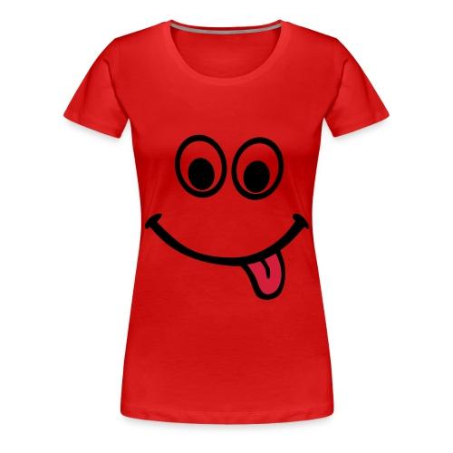Hymytyttö - Naisten premium t-paita