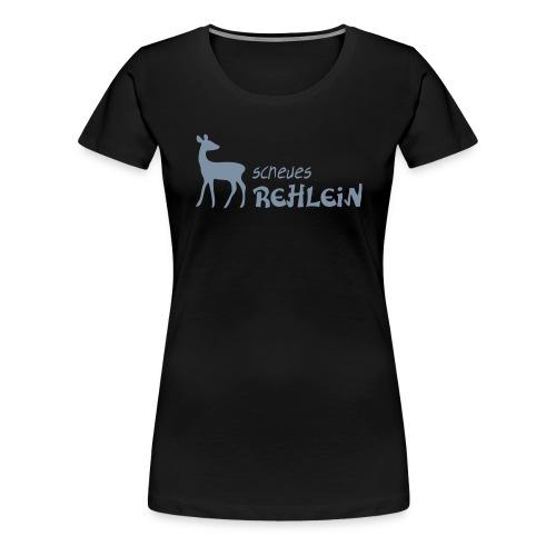 Damen Shirt Scheues Rehlein Reh Tiershirt Shirt Tiermotiv - Frauen Premium T-Shirt