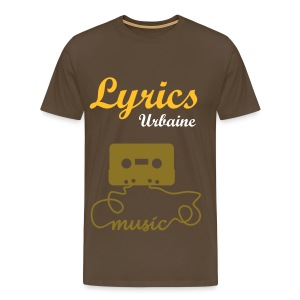 T-shirt Lyrics-Urbaine (Music) en Marron Bistre HOMME - T-shirt Premium Homme