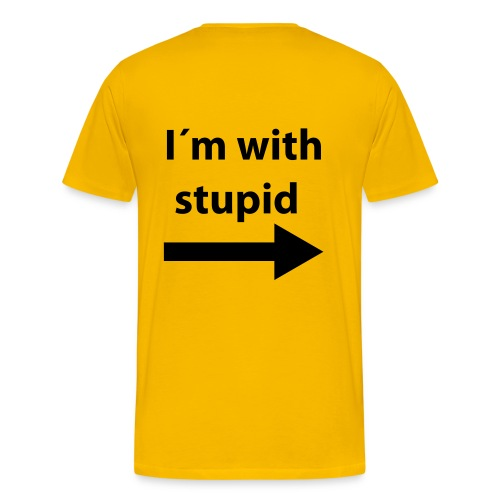 With Stupid -herr - Premium-T-shirt herr