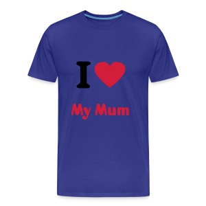 I Love My Mum - Men's Premium T-Shirt