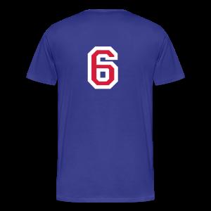 Rückennummer 6 T-Shirt (Rot/Weiß) - Männer Premium T-Shirt