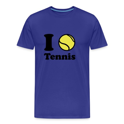 I LOVE TENNIS - Mannen Premium T-shirt