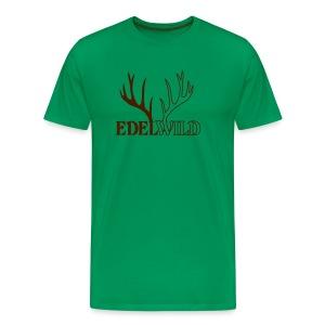 shirt t-shirt hirsch geweih hirschkopf elch hirschgeweih wald wild tier jäger jägerin jagd förster tiershirt shirt tiermotiv weihnachten rentier - Männer Premium T-Shirt