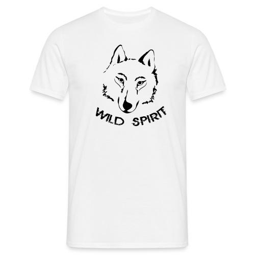 Wolf Shirt canis lupus Herren Wild Spirit Tiershirt Shirt Tiermotiv - Männer T-Shirt