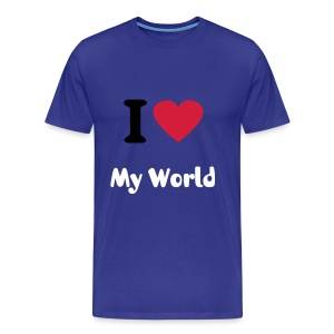 I Love My World - Men's Premium T-Shirt