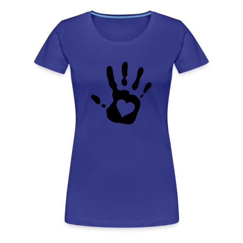 Käsi sydämellä! - Naisten premium t-paita