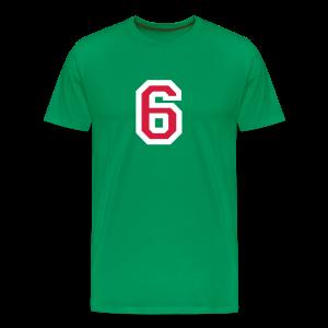 Nummer 6 T-Shirt (Rot/Weiß) - Männer Premium T-Shirt