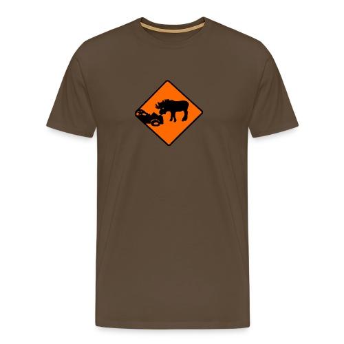 Elgulykke - Premium T-skjorte for menn