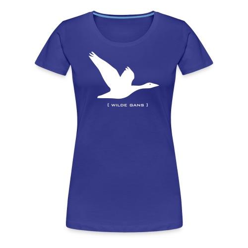 Damen Shirt Gans Wilde Gans weiss Tiershirt Shirt Tiermotiv - Frauen Premium T-Shirt