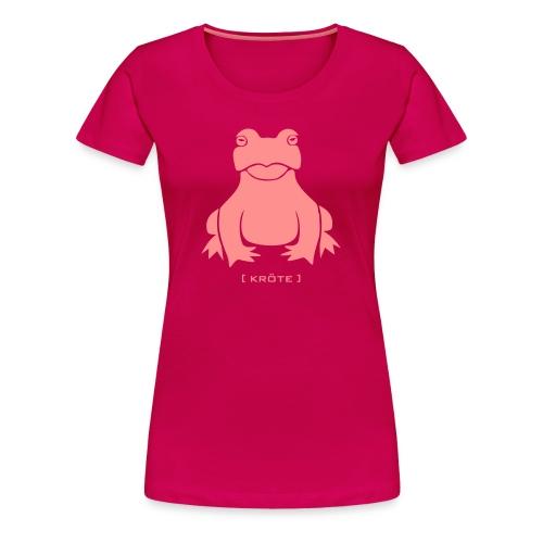 Damen Shirt Frosch Kröte pink Tiershirt Shirt Tiermotiv - Frauen Premium T-Shirt