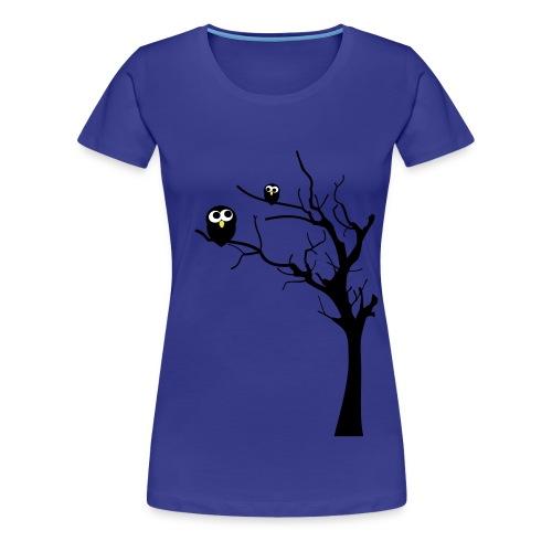 Eulen auf einem Baum - Frauen Premium T-Shirt