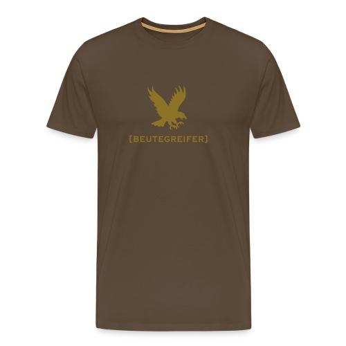 Herren Shirt Adler Beutegreifer gold matt Tiershirt Shirt Tiermotiv - Männer Premium T-Shirt