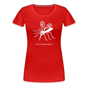 Damen Shirt Mücke Moskito Blutsauger weiss Tiershirt Shirt Tiermotiv - Frauen Premium T-Shirt
