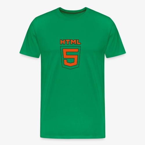 HTML 5 - Männer Übergrössenshirt - Männer Premium T-Shirt