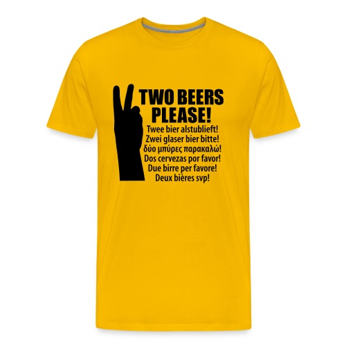 Bier op vakantie T-shirt Memo: 2 Bier! - Mannen Premium T-shirt
